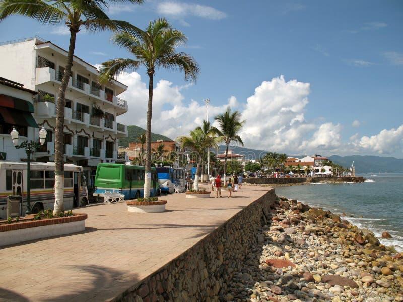 Puerto Vallarta江边 免版税库存图片