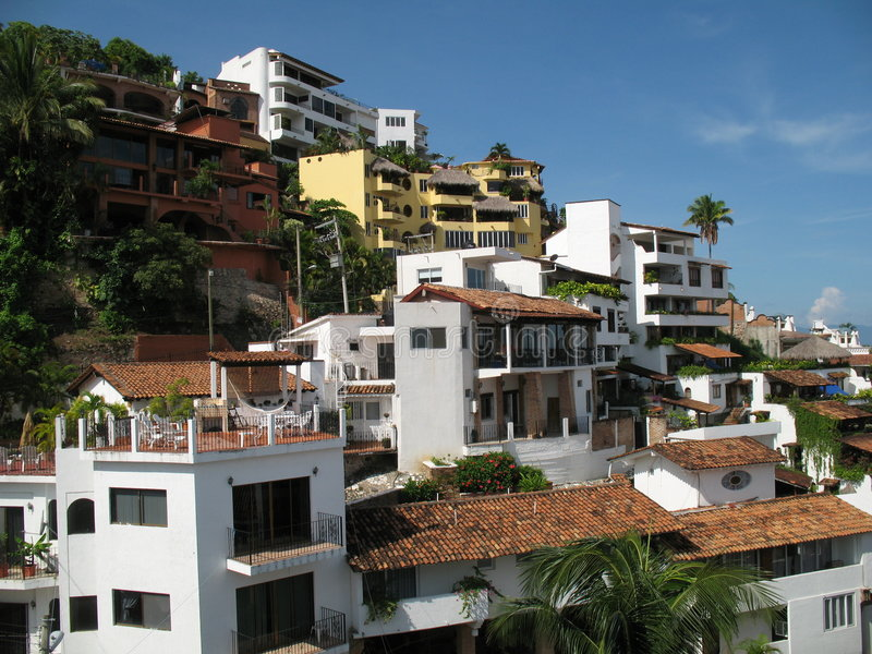 Download Puerto Vallarta Apartments stock image. Image of palm - 2922161