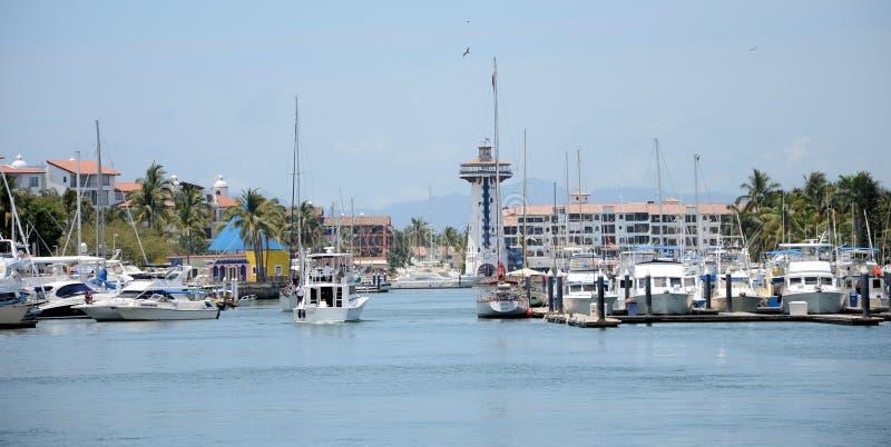 Puerto Vallarta Marina royalty free stock photography