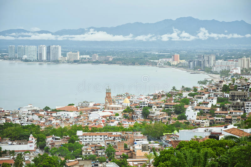 Puerto Vallarta, Mexico from bird view stock photos