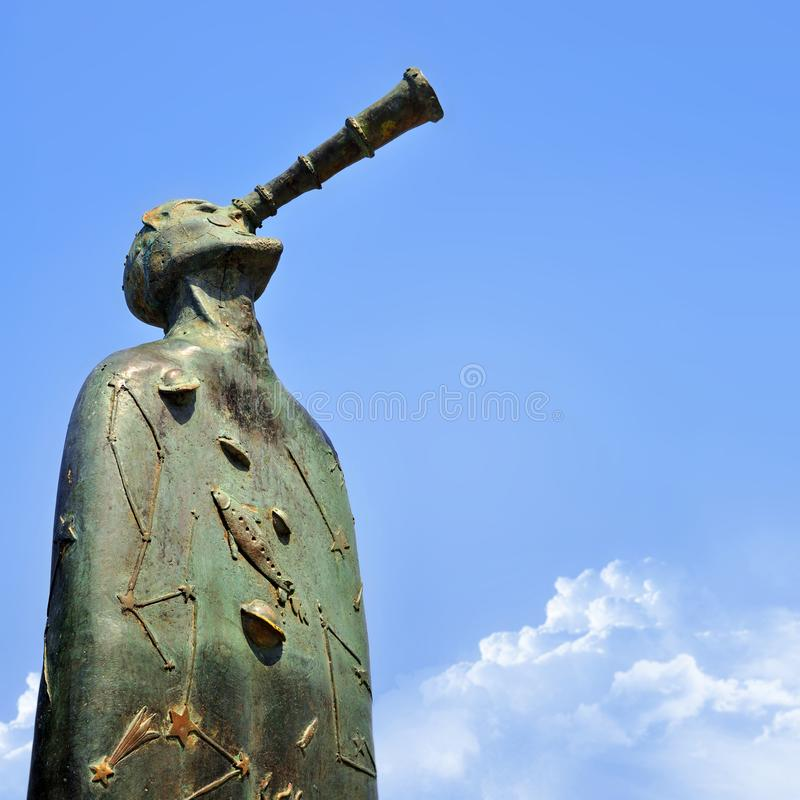Puerto Vallarta, Mexico sculpture from The Rotunda of the Sea in the Malecon boardwalk stock photo
