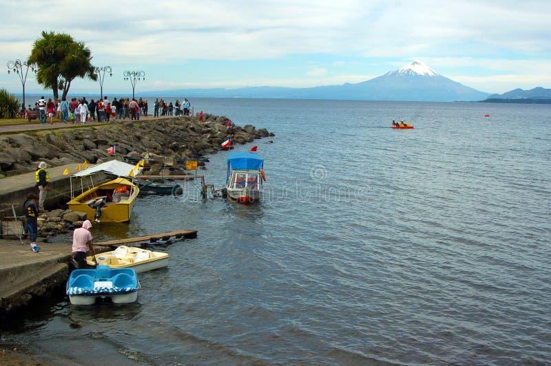 Puerto Varas, lago Llanquihue chili stock afbeeldingen