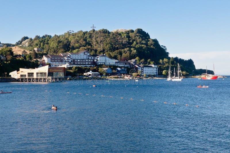 Puerto Varas o Chile fotografia de stock