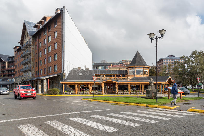 Puerto Varas que enfrenta o lago Llanquihue, o Chile foto de stock royalty free