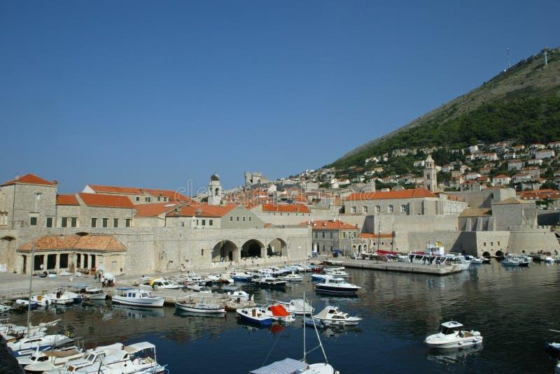 Puerto viejo de Dubrovnik fotografía de archivo libre de regalías