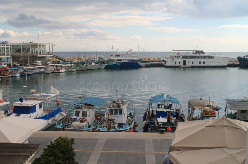Puerto viejo de Limassol en diciembre imágenes de archivo libres de regalías