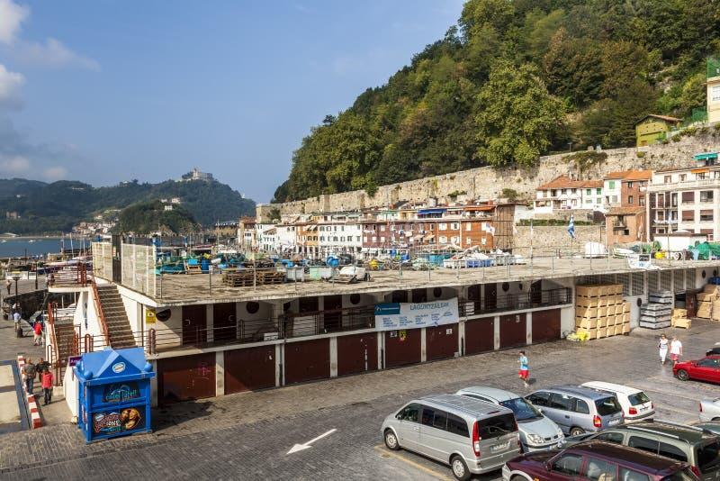 Puerto viejo de San Sebastian, España fotografía de archivo libre de regalías