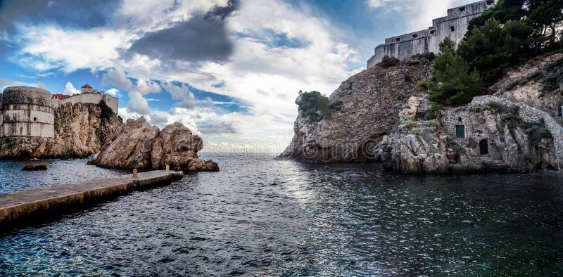 Puerto viejo Dubrovnik en Croacia fotos de archivo libres de regalías