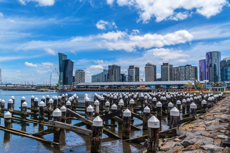 Puerto viejo en Docklands, Melbourne, Australia fotos de archivo libres de regalías