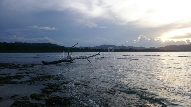 Puerto Viejo, ³ n de LimÃ, Costa Rica imagem de stock