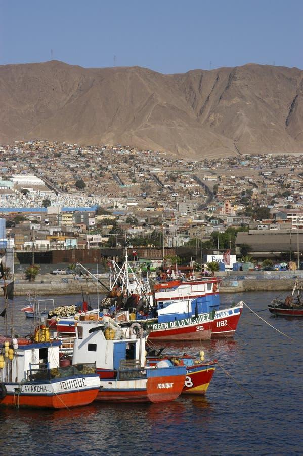 Puerto y ciudad de Antofagasta imagen de archivo