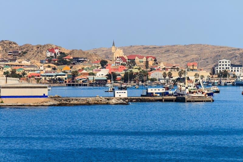 Puerto y ciudad del deritz del ¼ de LÃ imagen de archivo libre de regalías