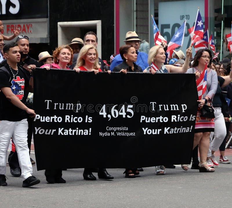2018 puertoricanska dag ståtar arkivfoto