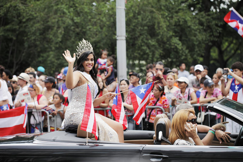Puertorikanische Tagesparade lizenzfreie stockfotos