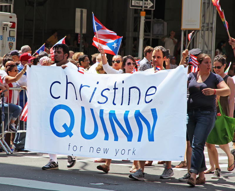 Puertorikanische Tagesparade lizenzfreies stockbild