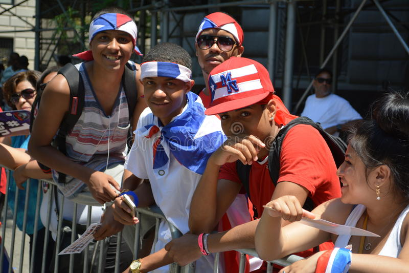 Puertorikanische Tagesparade 2015 lizenzfreie stockfotografie