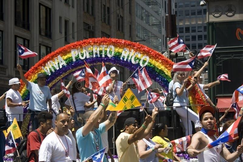 Puertorikanische Tagesparade; NYC 2012 lizenzfreie stockfotos