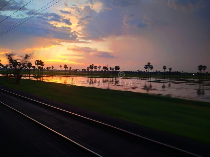 Puesta de sol en Chennai fotos de archivo libres de regalías