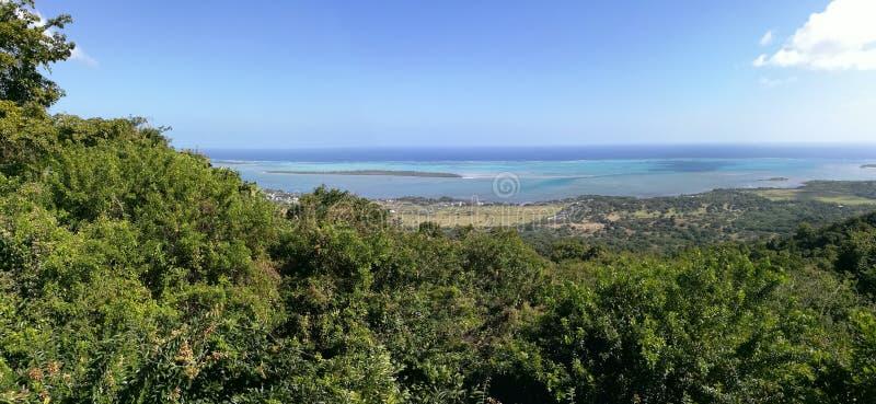 Puesta del sol île Mauricio del paraíso imagen de archivo libre de regalías