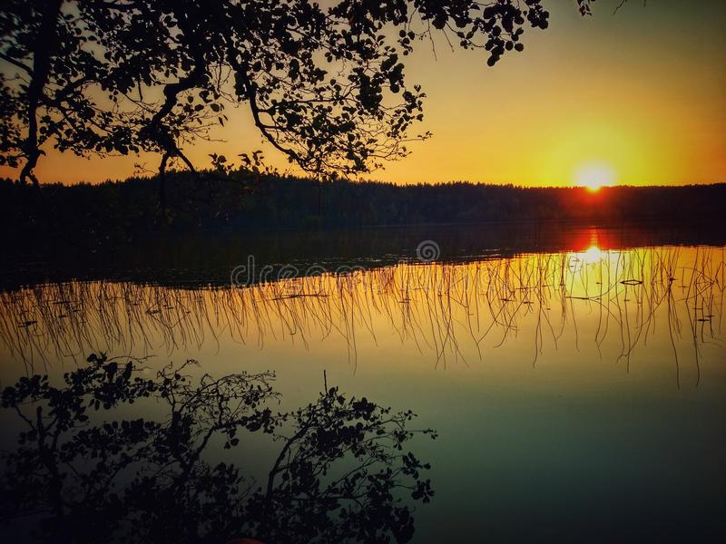 Download Puesta del sol foto de archivo. Imagen de sunset, sensaciones - 100530920