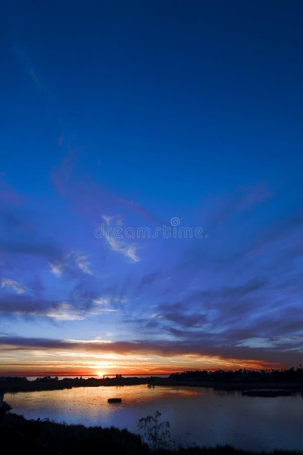 Puesta del sol 4 de Carlsbad fotografía de archivo