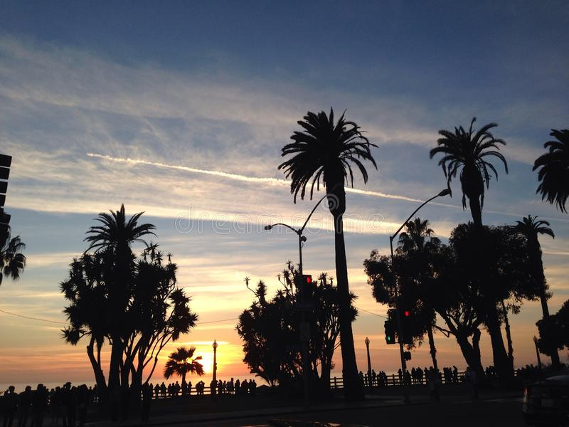 Puesta del sol fotos de archivo