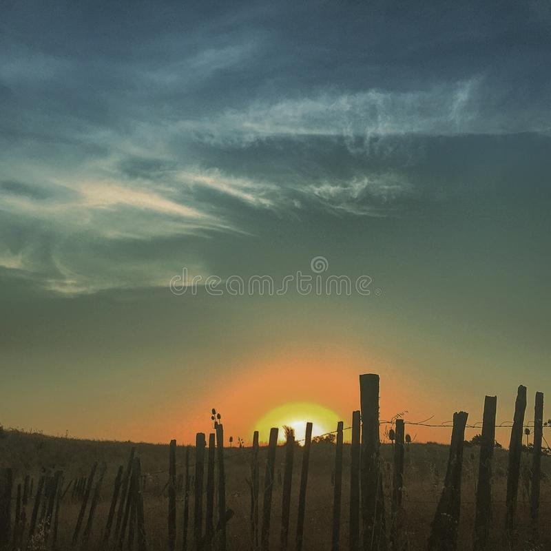 Puesta del sol 3 imágenes de archivo libres de regalías