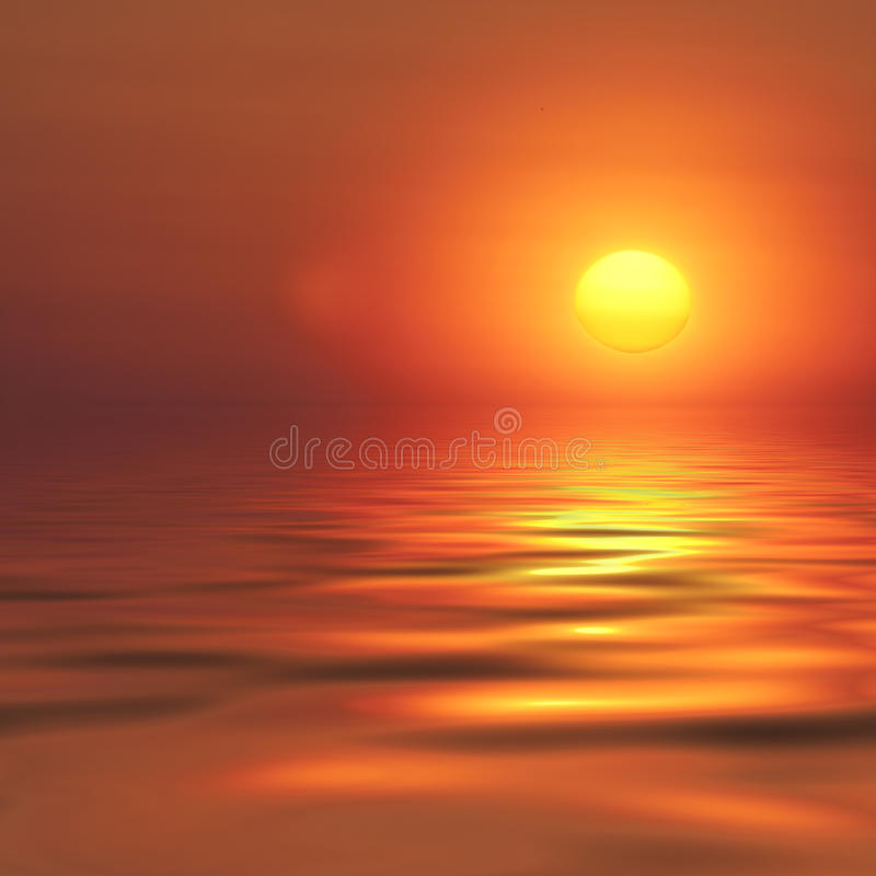 Puesta del sol abstracta imagen de archivo libre de regalías