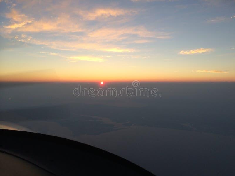 Puesta del sol arriba imágenes de archivo libres de regalías