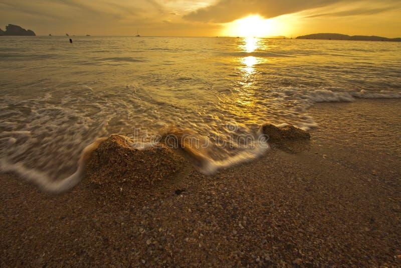 Puesta Del Sol Asombrosa Foto de archivo libre de regalías