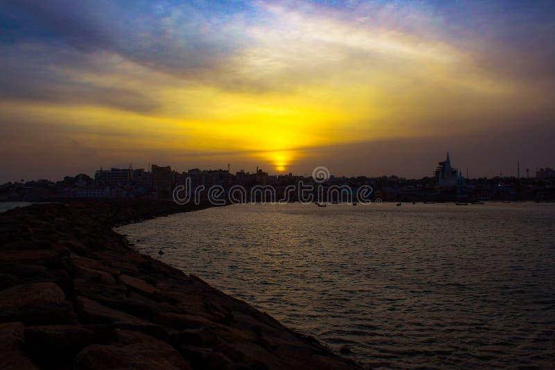 Puesta del sol del cabo foto de archivo libre de regalías