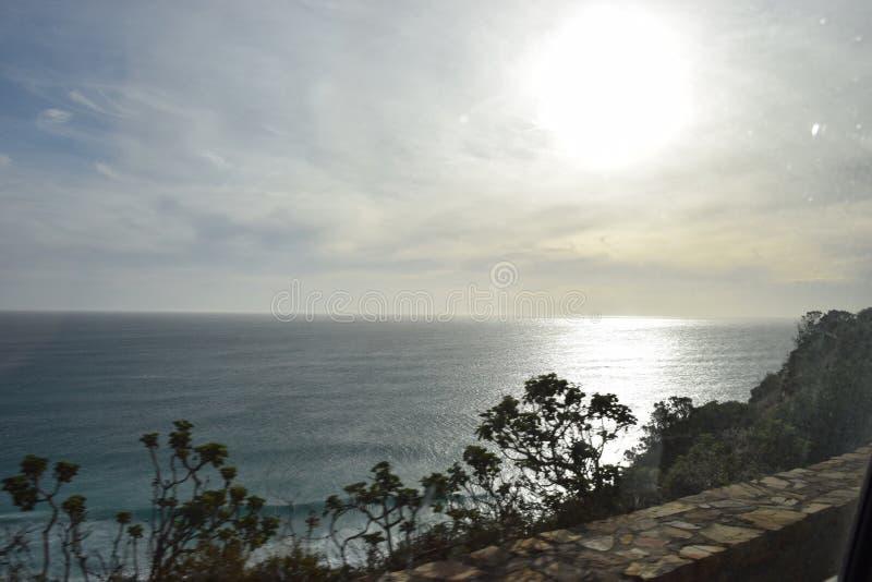 Puesta del sol Cape Town foto de archivo