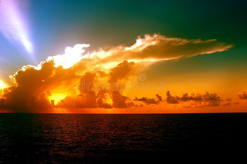 Puesta del sol Cloudscape en la Florida imagenes de archivo