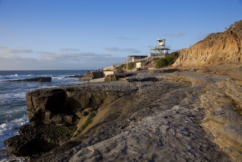 Puesta del sol costera de California fotos de archivo