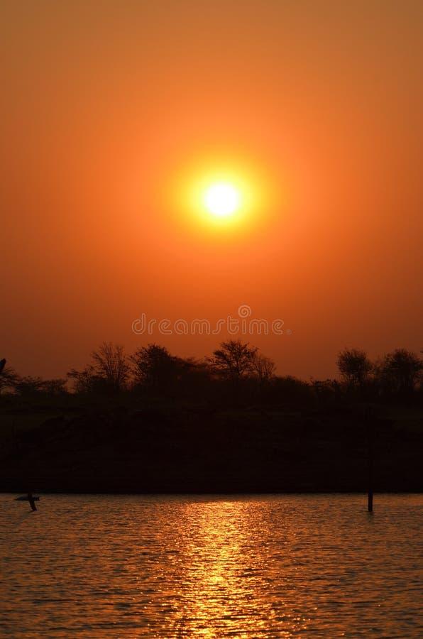 Puesta del sol de Afrikan foto de archivo