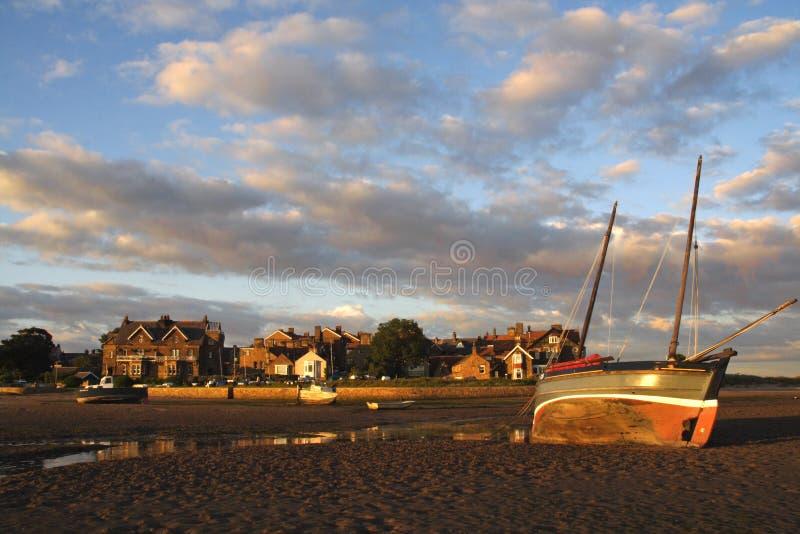 Puesta del sol de Alnmouth imagen de archivo libre de regalías