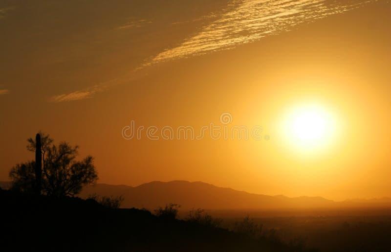 Puesta del sol de Arizona foto de archivo libre de regalías