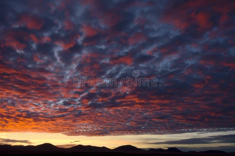 Puesta del sol de Arizona imagenes de archivo