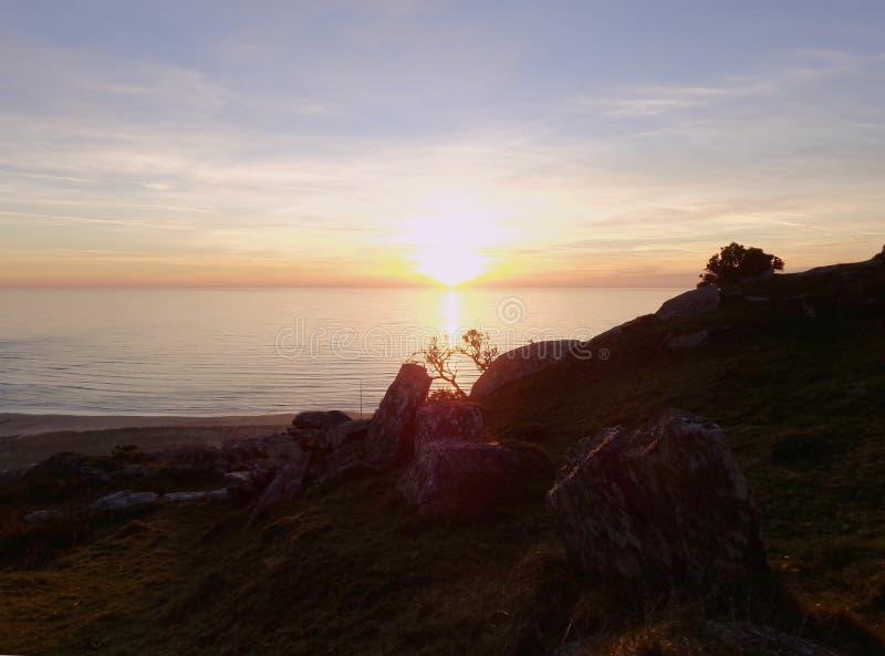 Puesta del sol 1 de Barmouth foto de archivo