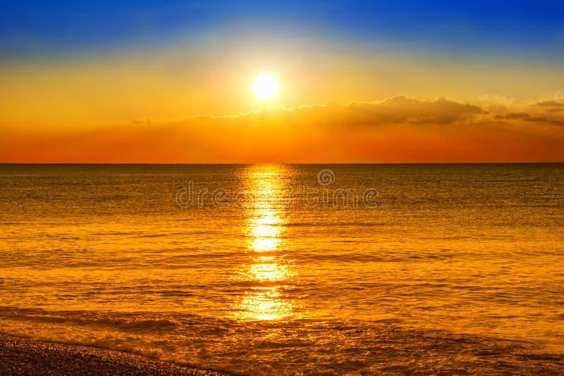 Puesta del sol de Beaultiful fotos de archivo libres de regalías