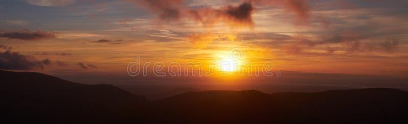 Puesta del sol de Blencathra imagen de archivo libre de regalías