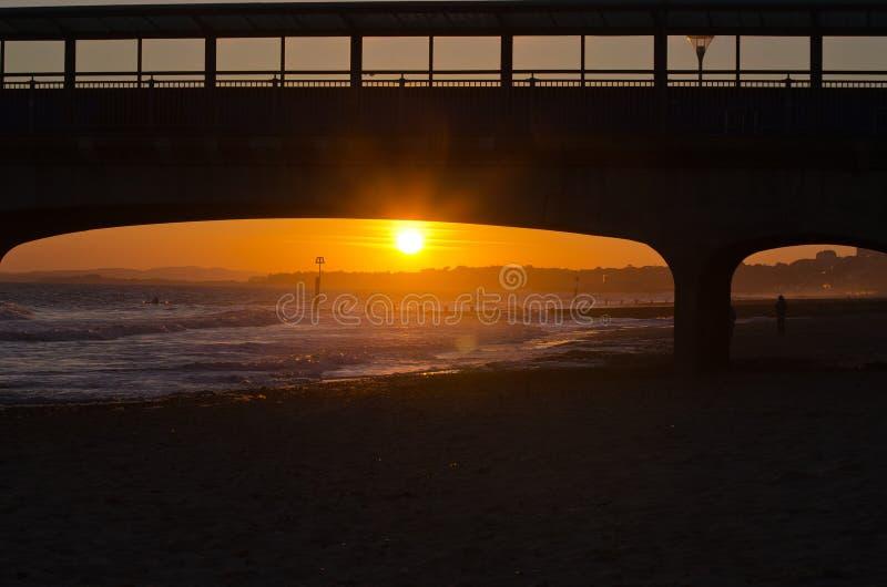 Puesta del sol de Boscombe foto de archivo