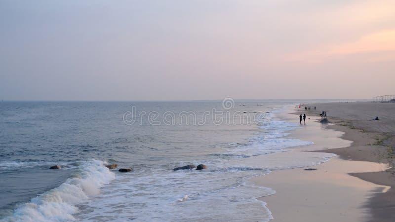 Puesta del sol de Brighton Beach fotografía de archivo