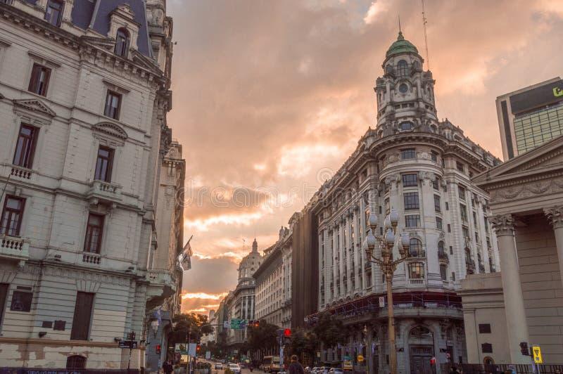 Puesta del sol de Buenos Aires foto de archivo libre de regalías
