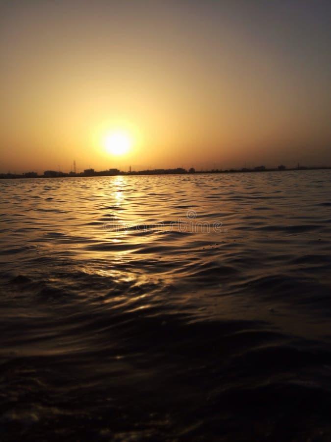 Puesta del sol de Buty foto de archivo libre de regalías