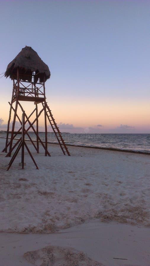 Puesta del sol de Cancun imagen de archivo libre de regalías