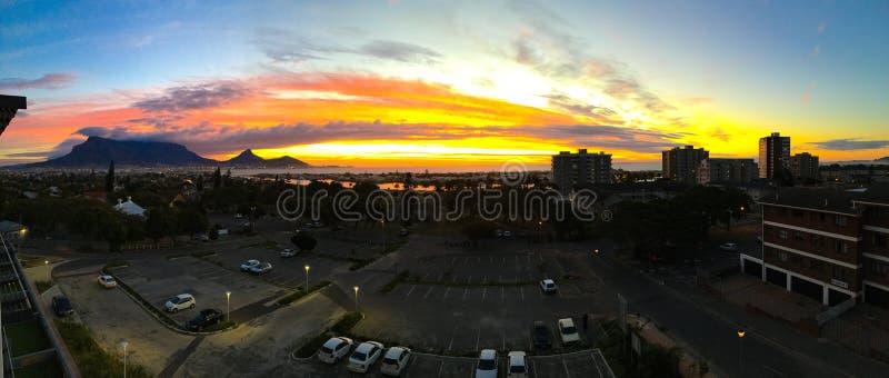 Puesta del sol de Cape Town fotografía de archivo libre de regalías