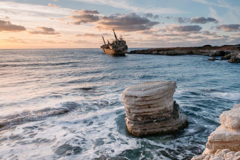 Puesta del sol de Chipre imágenes de archivo libres de regalías