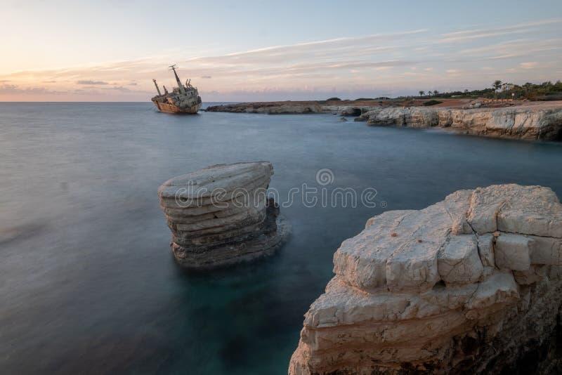 Puesta del sol de Chipre imagen de archivo