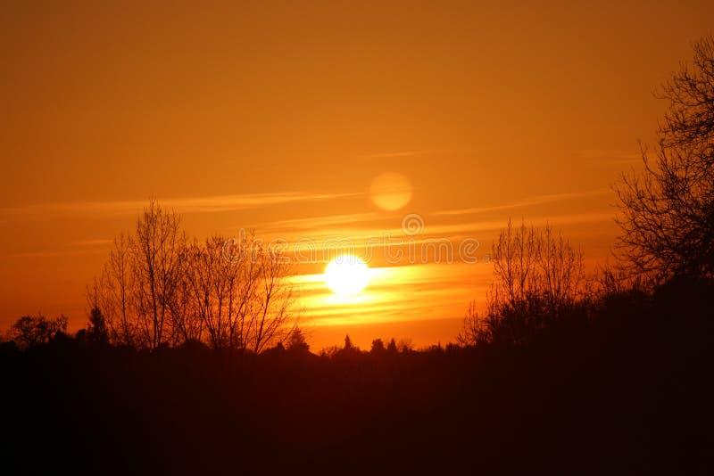 Puesta del sol de Cloudscape fotos de archivo libres de regalías